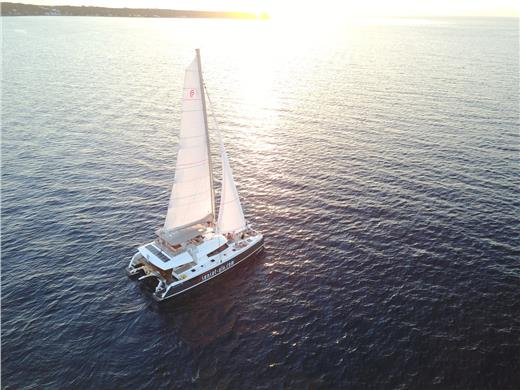 Romantic Catamaran Cruise in Santorini with lunch or dinner on board  - Catamaran Cruises - Santorini View