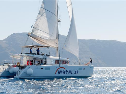 Luxurious Small-Group Catamaran Cruise in Santorini with BBQ and Drinks - Catamaran Cruises - Santorini View