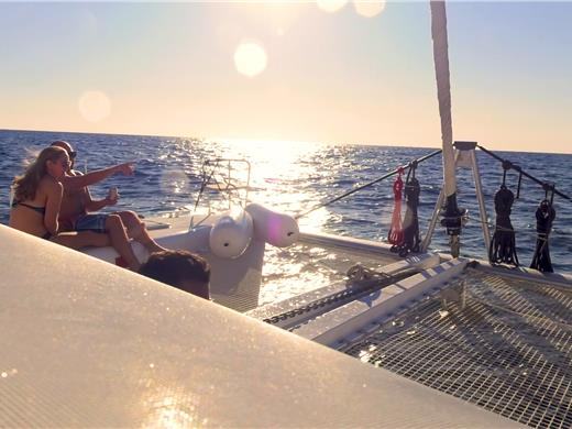 Small-Group Catamaran Cruise in Santorini with BBQ Lunch and Drinks - Catamaran Cruises - Santorini View