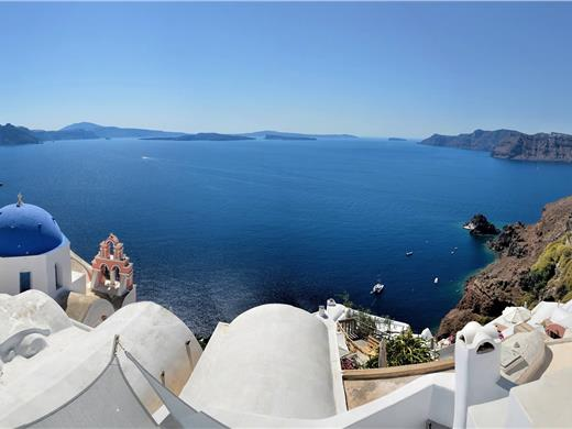 Full-Day Sightseeing Bus Tour of Santorini with a Licensed Tour Guide - Bus tours - Santorini View