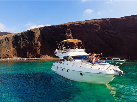 All-inclusive Private Motor Yacht Cruise with on-board Lunch or Dinner - Yacht Cruises - Santorini View