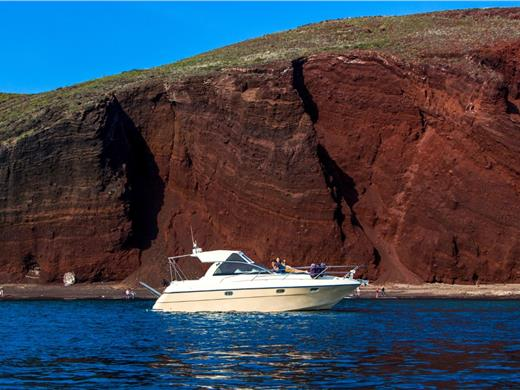 Private Motor Yacht Cruise in Santorini with BBQ Food and Drinks - Yacht Cruises - Santorini View