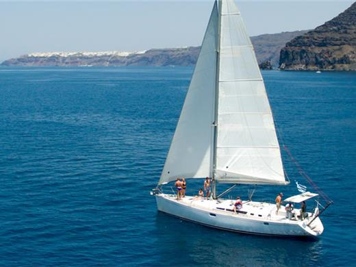 Sailing Cruise in Santorini with Seafood BBQ dinner/lunch on board and Drinks - Sailing Cruises - Santorini View