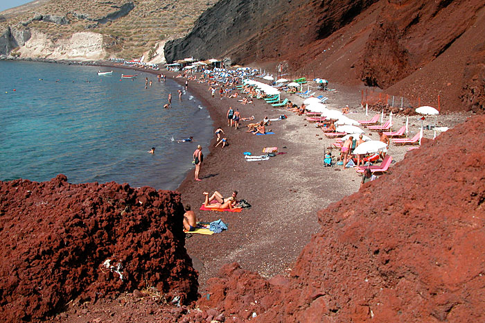 Santorini beach retro pics 31