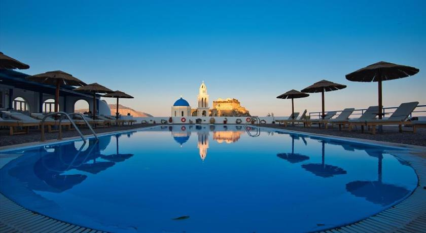 Thira's Dolphin, Hotel in Akrotiri, Greece - Santorini View