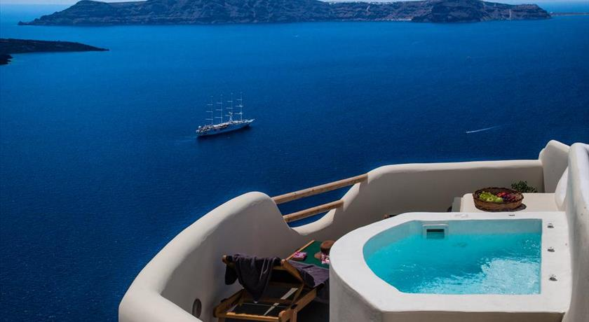 Antithesis Hotel, Hotels in Fira Caldera, Aerial Preview - Santorini View
