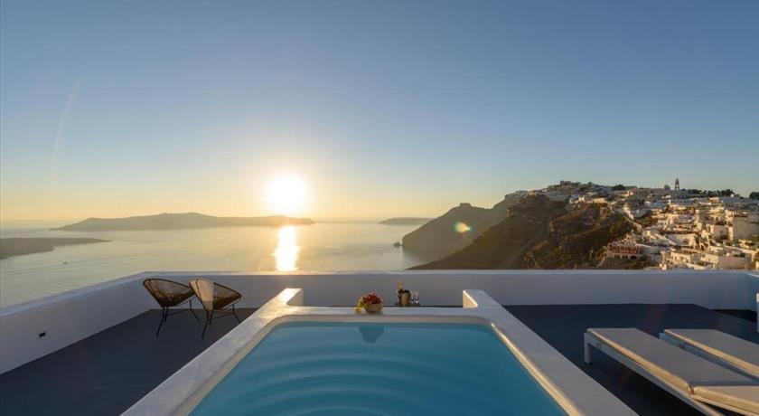 Aria Suites, Hotels in Fira Caldera, Aerial Preview - Santorini View