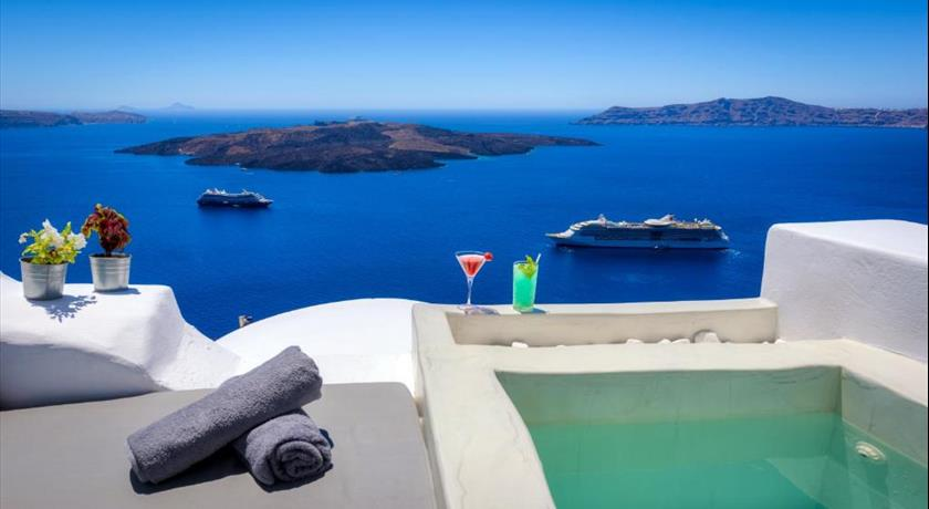 Modernity Suites, Hotel in Fira, Greece - Santorini View