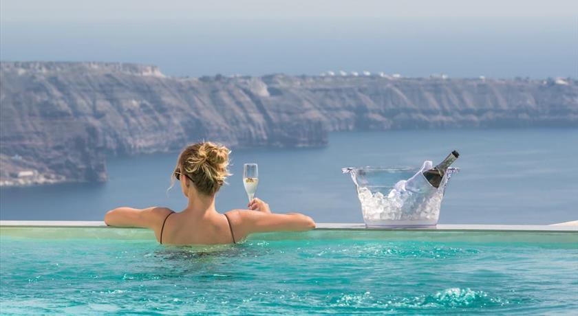 Mythical Blue Santorini, Hotels in Fira, Greece - Santorini View