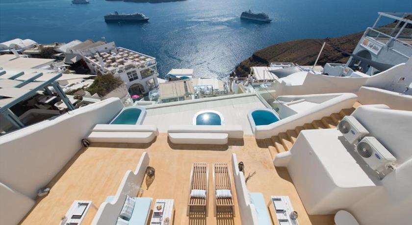 On the Cliff, Hotel in Fira, Greece - Santorini View