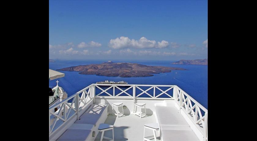 Santoniro Villa, Hotels in Fira, Greece - Santorini View