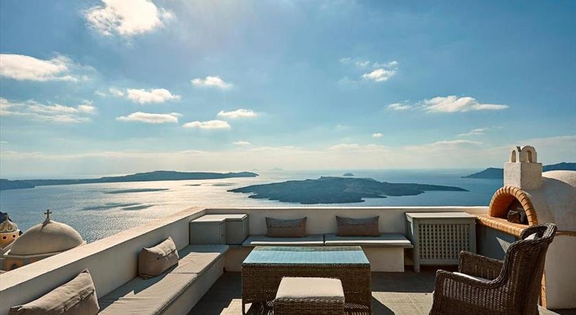 Villa Dakoronia, Hotels in Fira, Greece - Santorini View