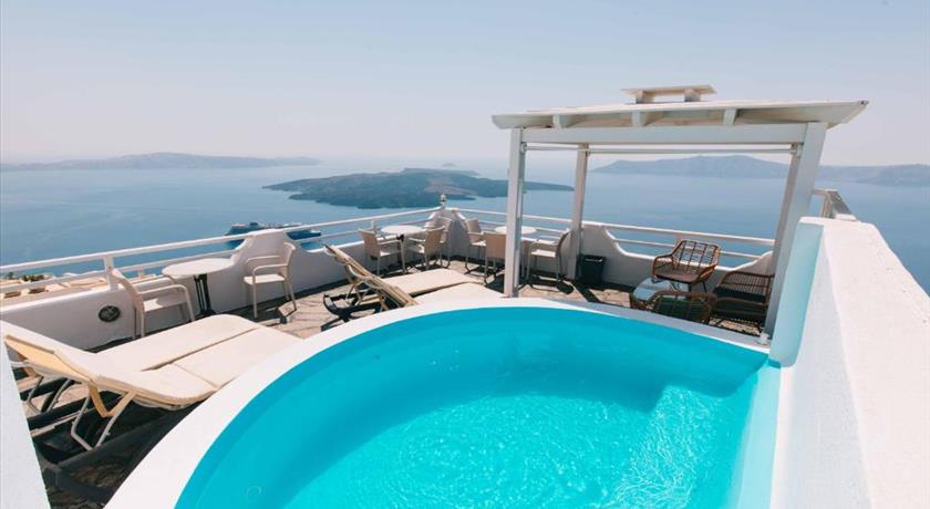 Kafieris Apartments - on the Cliff, Hotels in Firostefani, Greece - Santorini View