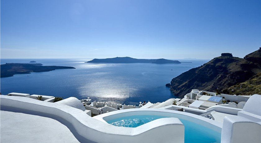 Nautilus Villa, Hotels in Firostefani, Greece - Santorini View