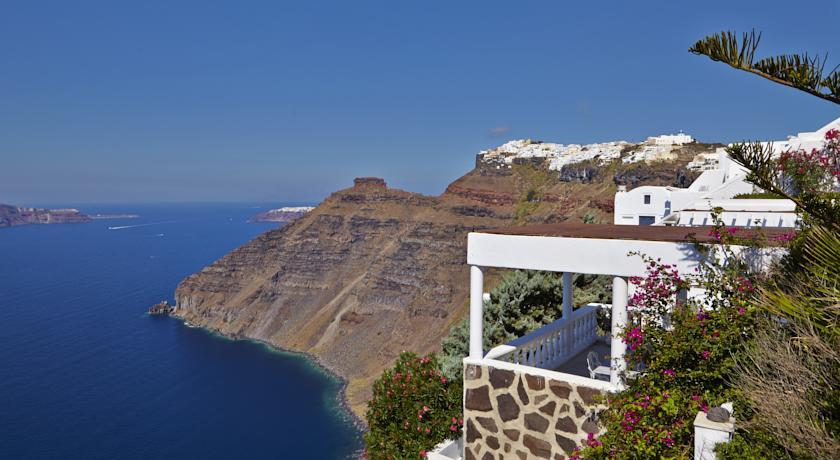 SeaHorse Residence, Hotels in Firostefani Caldera, Aerial Preview - Santorini View
