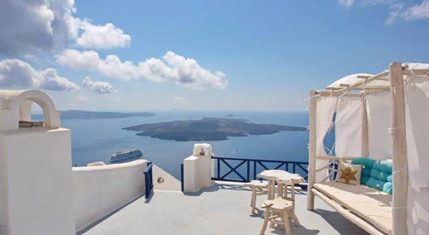 Stilvi Studios, Hotels in Firostefani Caldera, Aerial Preview - Santorini View