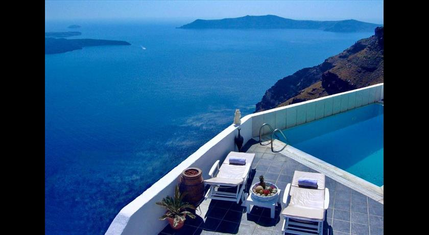 Aeolos Studios & Suites, Hotels in Imerovigli Caldera, Aerial Preview - Santorini View