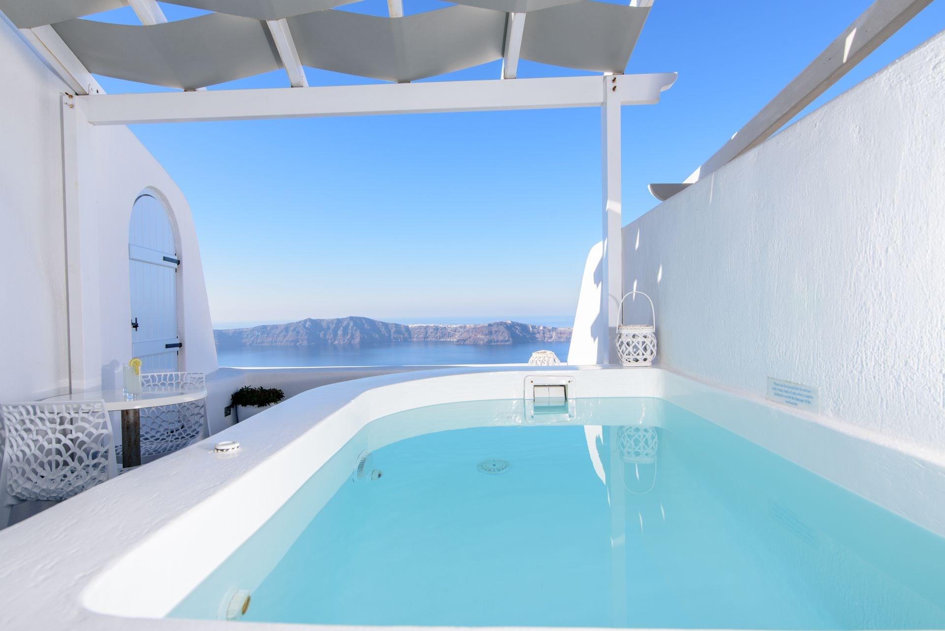 Dreaming View Suites Hotels In Imerovigli Caldera Aerial