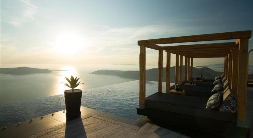 Galaxy Suites & Villas, Hotels in Imerovigli Caldera, Aerial Preview - Santorini View