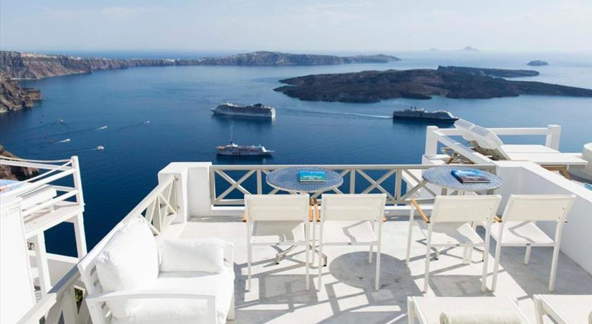 Gorgona Villas, Hotel in Imerovigli, Greece - Santorini View