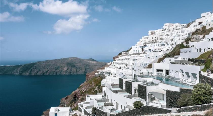 Grace Santorini, Hotels in Imerovigli Caldera, Aerial Preview - Santorini View