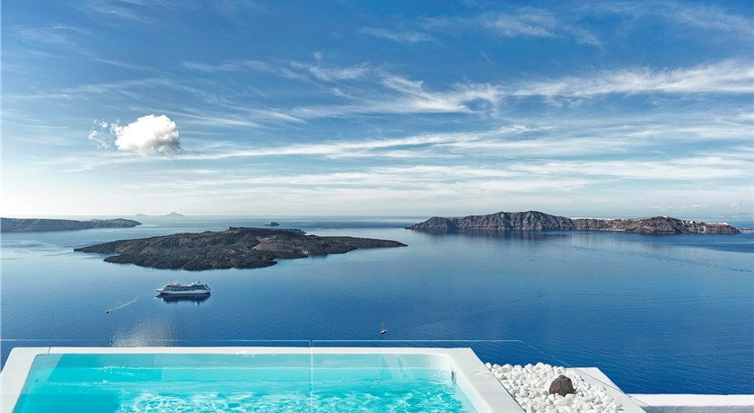 Malteza Private Villa, Hotel in Imerovigli, Greece - Santorini View