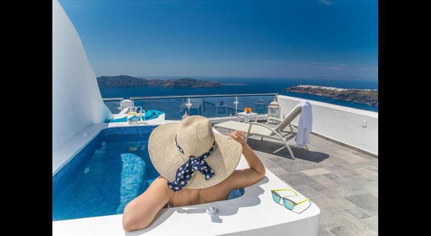 Villa Lukas, Hotel in Imerovigli, Greece - Santorini View