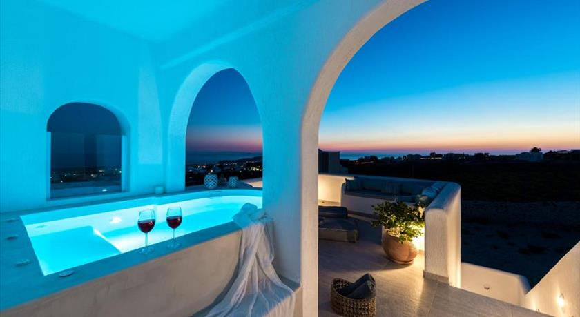 Blanca Luxury Villa, Hotels in Megalochori, Greece - Santorini View