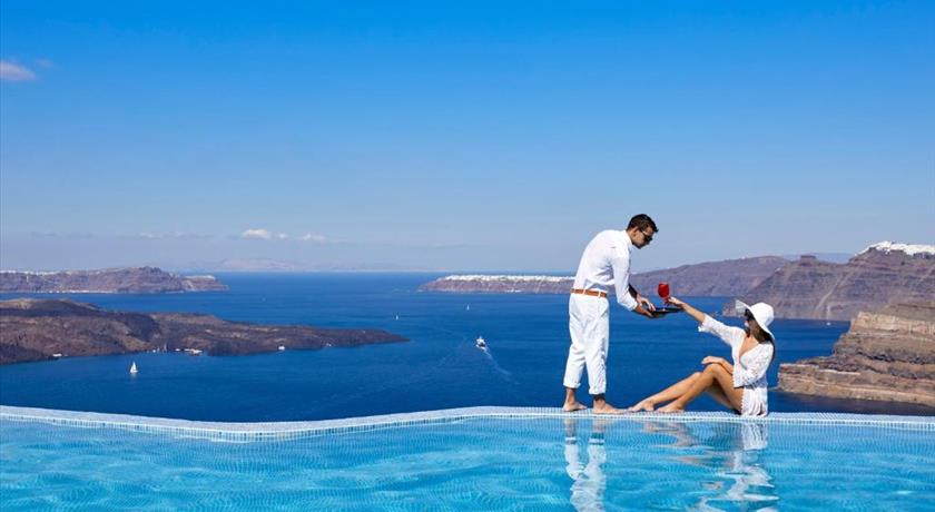 Suites Of The Gods Cave Spa Hotel, Hotel in Megalochori, Greece - Santorini View