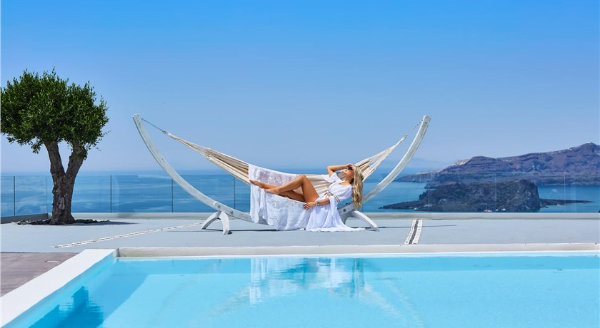 Thermes Luxury Villas And Spa, Hotel in Megalochori, Greece - Santorini View