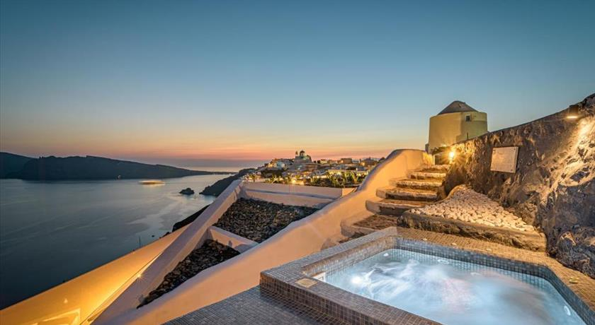 Enalion Suites, Hotels in Oia Caldera, Aerial Preview - Santorini View