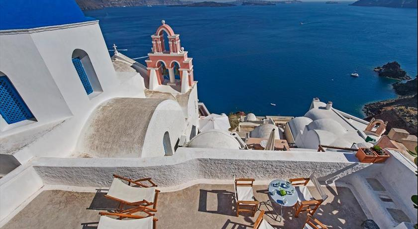 Opuntia Traditional Cave House, Hotel in Oia, Greece - Santorini View