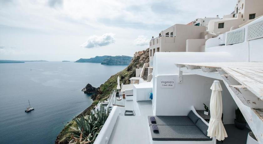 Virginia's Cave Villas, Hotel in Oia, Greece - Santorini View