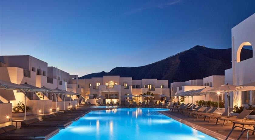 Aqua Blue Hotel, Hotels in Perissa, Greece - Santorini View