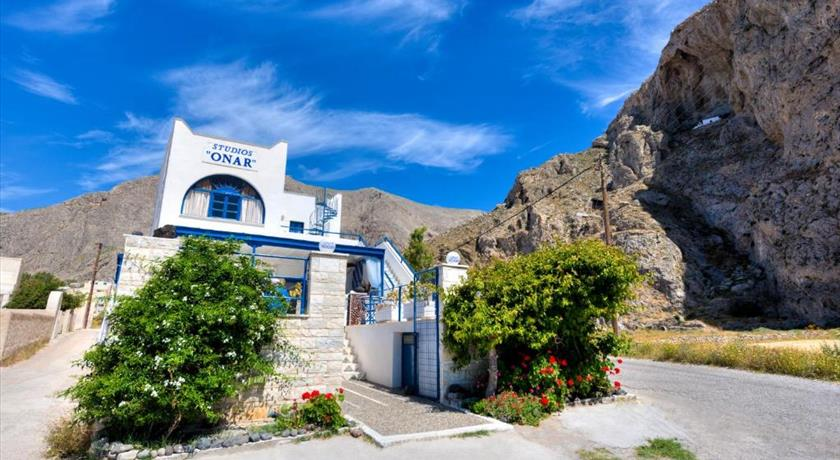 Onar Rooms & Studios, Hotels in Perissa, Greece - Santorini View