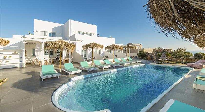 Central Pyrgos Hotel, Hotels in Pyrgos, Greece - Santorini View