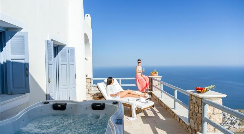 Enastron Suites, Hotels in Pyrgos, Greece - Santorini View