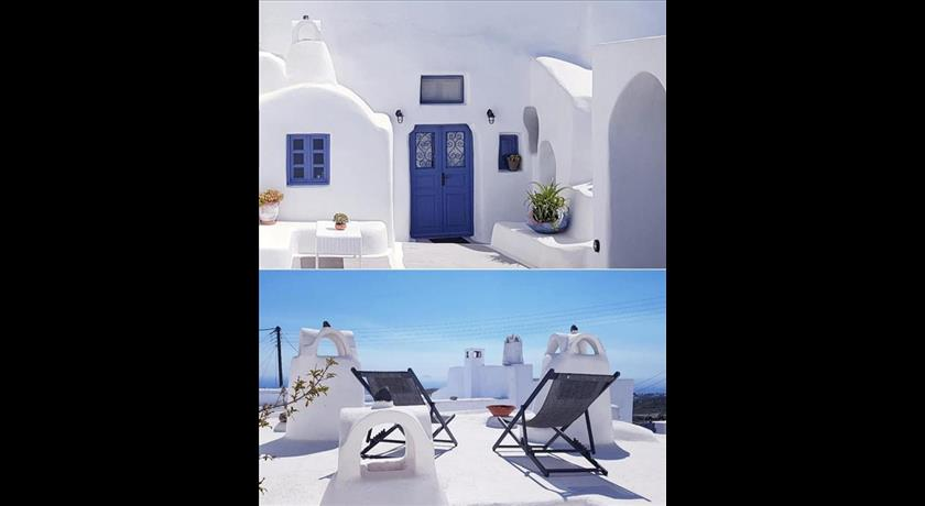 Olyra Traditional Cave Houses, Hotel in Pyrgos, Greece - Santorini View