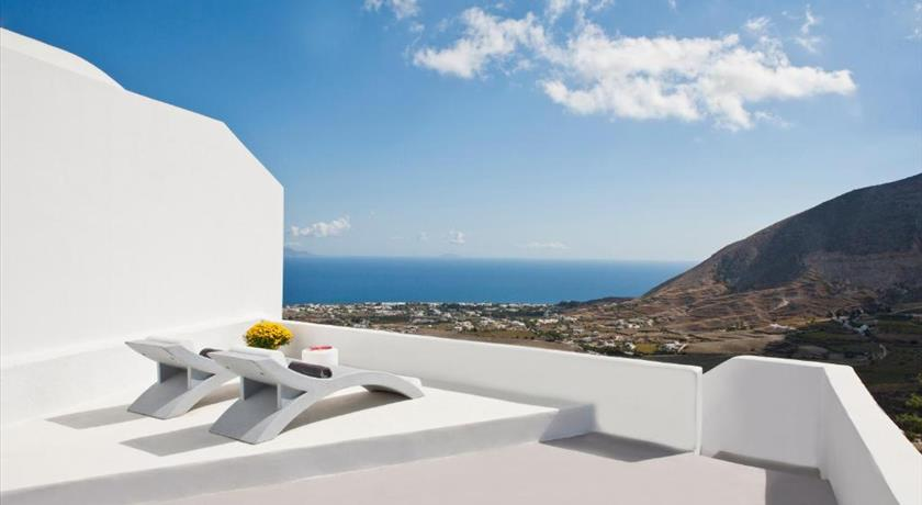 Semeli Cave House, Hotel in Pyrgos, Greece - Santorini View