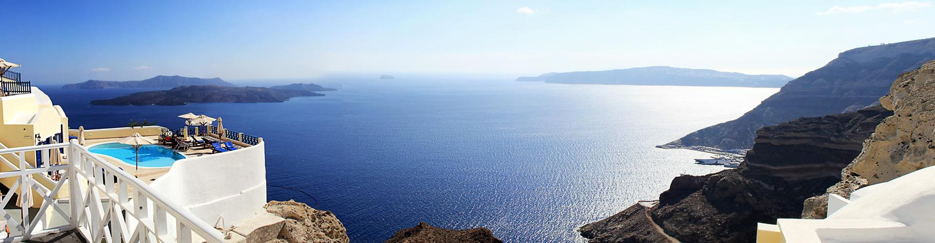 Places to stay in Santorini with great view