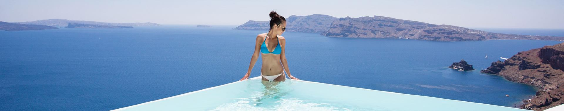 Perissa or Finikia Santorini Suites