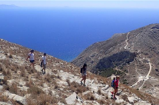 Photo of Hike to the summit of Santorini island