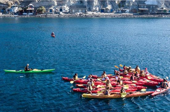 Photo of Santorini Sea Kayaking Tour