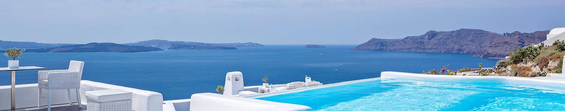 Oia or Akrotiri Santorini Hotels with Infinity Pool