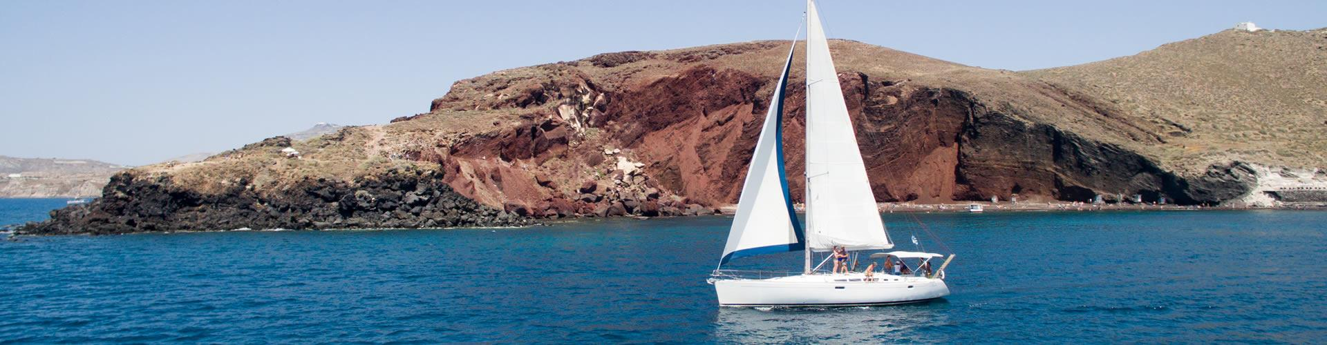 Photo of Private Sailing Cruise in Santorini with Seafood BBQ dinner/lunch on board and Drinks