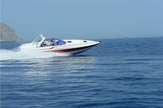 Photo of Private Speedboat Cruise in Santorini with Snacks & Drinks